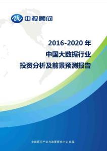 2016-2020年中国大数据行业投资分析及前景预测报告