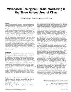 web-based geological hazard monitoring in the three gorges...