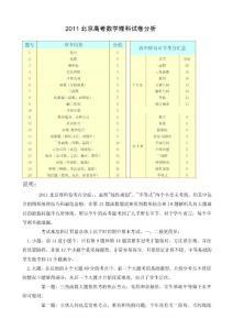 2011年北京高考数学答案解..