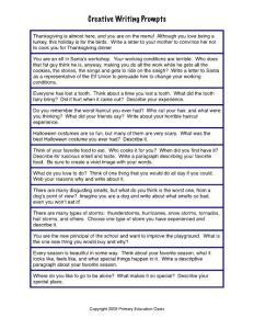 Creative Writing Prompts - k5ChalkBox
