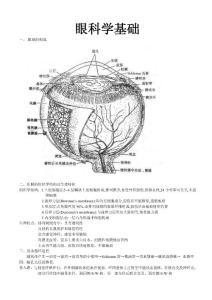 眼科学重点总结人卫第七版(详细版)