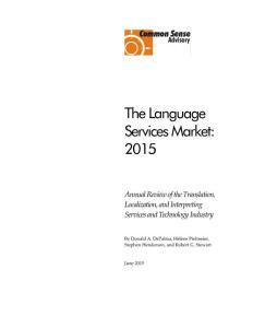 The Language Services Market 2015