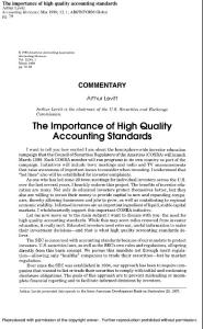The Importance of High Quality Standards