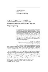 an estimated monetary dsge model with unemployment and staggered nominal wage bargaining