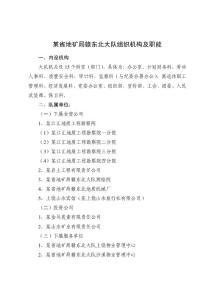 某省地矿局意赣东北大队组织机构及职能
