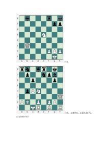 国际象棋战术手段练习题
