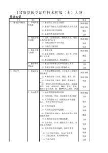 107康复医学治疗技术初级(士)大纲