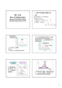 南大仪器分析课件——第十三章 紫外可见吸收光谱法