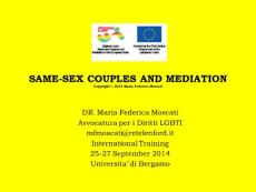 SAME-SEX COUPLES AND MEDIATION - retelenford.it