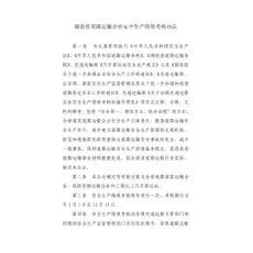 湖南省道路运输企业安全生产绩效考核办法湘交安112