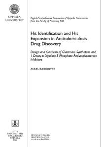 Hit Identification and Hit Expansion in Antituberculosis Drug…