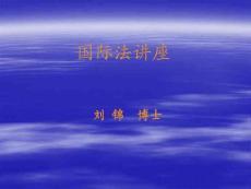 【PPT】-国际法讲座