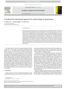 a fundamental experimental approach for optimal design of speed bumps.[2017][accid anal prev][10.1016j.aap.2017.05.022]