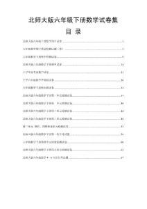 【精品】北师大版小学数学六年级下册期中试卷期末试卷及各单元测试卷全集[共16份]