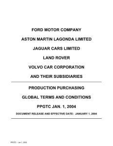 Ford PPGTCs -福特汽车公司企业标准-全球生产采购通则