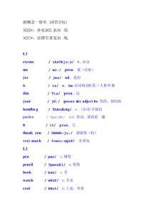 新概念一册单词(带音标)