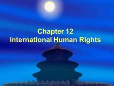 (���H法�n件)chapter 12International Human Rights
