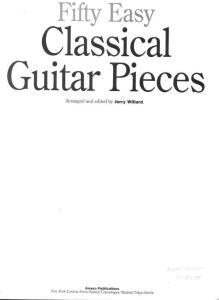 (新版) 50 Classical Pieces 《50首古典吉他曲谱》