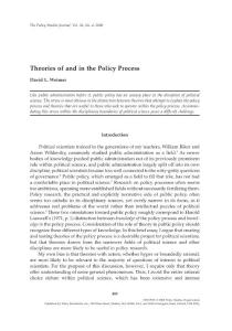 国外英语论文:Theories of and in the Policy Process