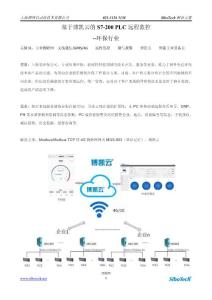 基于博凯云的S7-200PLC远程监控--环保行业