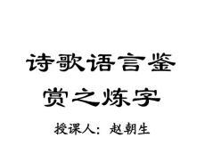 高考语文诗歌语言鉴赏之炼..