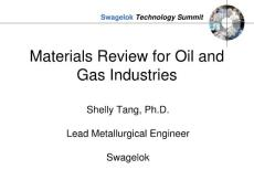 materials review for oil and gas industries(石油和天然气工业的材料审查)