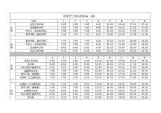 最新巴士时间表