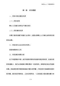 稀土三元催化材料投资建设项目建议书