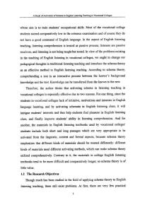 图式的激活在高职英语听力教学中的实验研究