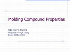 Introduction to Molding Compound Properties