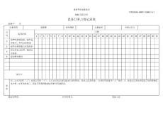 设备一级保养记录表