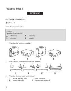 剑桥雅思1听力题目录音稿和答案