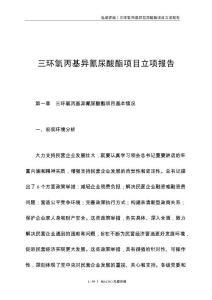 三环氧丙基异氰尿酸酯项目立项报告