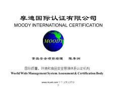国际质量环境和食品安全管理体系认证