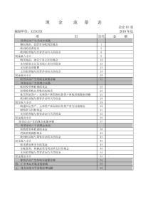 薪酬专题-空白现金流量表.docx