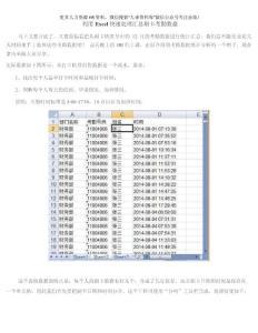 培训专题-【刷卡考勤】利用Excel快速处理汇总刷卡考勤数据.docx