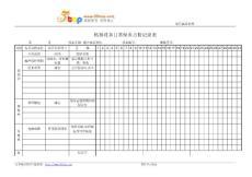 超声波清洗机日常保养点检记录表