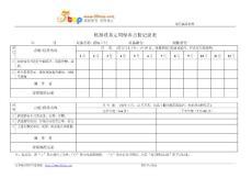 游标卡尺定期保养点检记录表