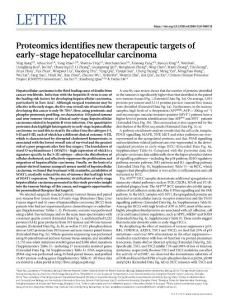 nature.2019-Proteomics identifies new therapeutic targets of early-stage hepatocellular carcinoma-letter