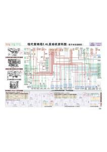 索纳塔(手动变速箱)2.4L发动机资料电路图