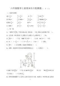 青岛版六年级数学上册期末..