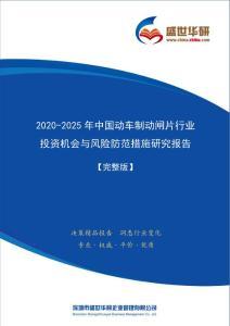【完整版】2020-2025年中国动车制动闸片行业投资机会与风险防范措施研究报告