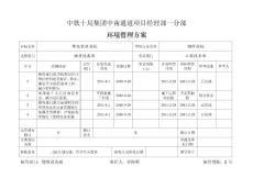 中南通道环境管理方案