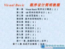 vb程序设计(全套)最新版本