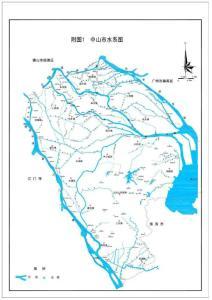 中山市水系分布图