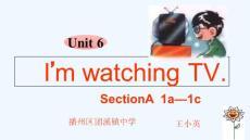 初中英语人教版七年级下册《I'm-watching-TV》课件