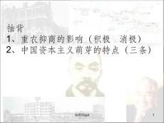 高中历史 人民版必修二专题二 近代民族资本主义的曲折发展