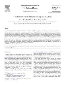 Total-factor water efficiency of regions in China