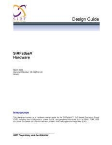 车载导航方案的SIRF A4/A5设计手册