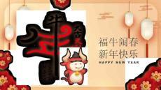 传统中国风牛年大吉春节民俗知识模板